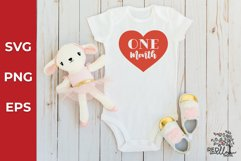 Baby Monthly Milestone SVG Bundle, Baby SVG Product Image 3