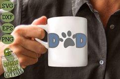 Dog Dad / Cat Dad Paw Print SVG File Product Image 1