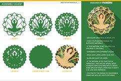 Meditation Mandala 3D Layered SVG Cut File Product Image 4
