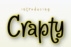 Crapty - a Playful Font with Cute Alternates & Ligatures Product Image 10