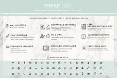 RN Nurse Resume template. Modern Resume format for Nurses Product Image 12