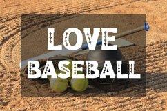Baseball Slab Outline Font Product Image 2