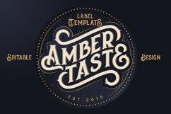 Amber Taste Font, Label, Mockup! Product Image 5