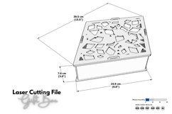 Gift Box - laser cutting file Product Image 2