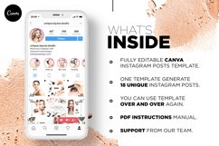 Beauty Instagram 18 Posts Template | CANVA Product Image 7