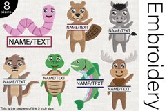 Split Hi Animals - Embroidery Files - 1482e Product Image 1