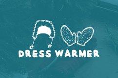Winter clothes doodle font Product Image 3