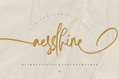 Aesslhine - A Chic Handwritten Font Product Image 1