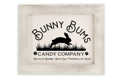 Spring Flower Easter Bunnies svg cut file Product Image 3