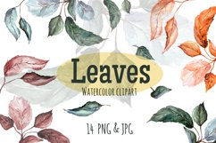 Leaves. Watercolor clipart Product Image 1