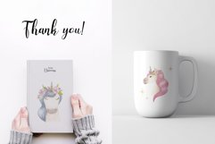 Watercolor Unicorns. Cliparts and Pattern Product Image 2