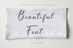 Web Font Savanah, a Brush Script Font Product Image 5