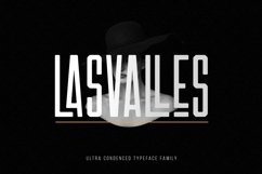 Las Valles Ultra Condensed Typeface 4 Fonts Product Image 1