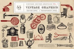 55 Vintage Vector Graphics Product Image 3