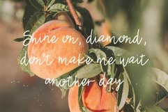 JUST PEACHY a Hand Lettered Script Font Product Image 4