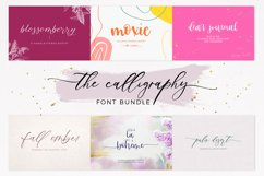 The Chic Calligraphy Font Bundle Product Image 1