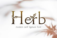 Herb - floral serif ligature font Product Image 1