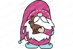 Easter Gnome with Chocolate Bunny - Cutting File SVG EPS PNG Product Image 2