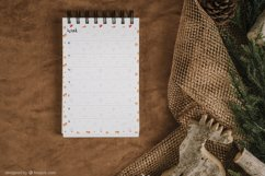 Undated monthly and weekly planner's sheets. Christmas theme Product Image 5