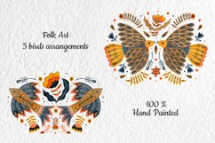 Folk Art Birds Compositions. Product Image 3