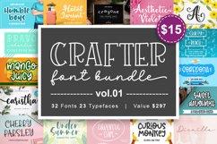 Crafter Font Bundle Vol. 1 Product Image 1