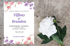 Pink and Purple Watercolor Floral Wedding Invitation Product Image 3