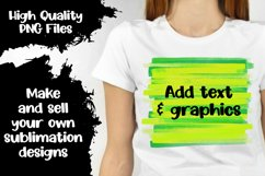 Multicolored Paint Stroke Backgrounds for Sublimation Product Image 2