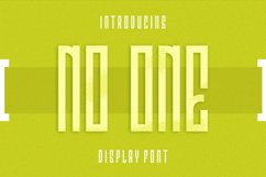 No One Font Product Image 1