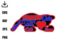 Kitten layered for decoration svg Product Image 3