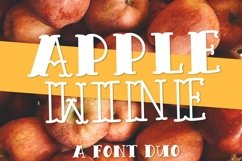 Apple Wine - A Hand Lettered Font Duo With Outline & Filled Product Image 1