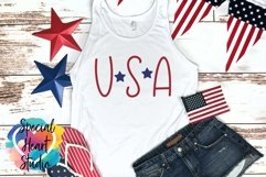 USA - A hand lettered patriotic SVG Product Image 1