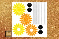 Paper Sunflower Template Svg Cut File Paper Flower print Product Image 3
