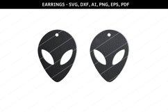 Alien Earrings svg,UFO earrings,Sci fi earrings,alien svg Product Image 1