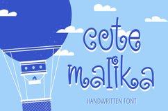 Cute Malika - Cute and Fun Handwritten Font Product Image 1