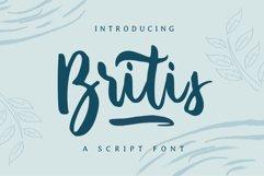 Britis | Script Font Product Image 1