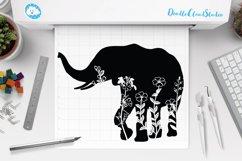 Floral Elephant SVG Cut Files. Floral Elephant Clipart. Product Image 1