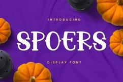 Spoers Font Product Image 1
