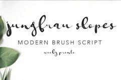Jungfrau Slopes Modern Calligraphy Brush Script Product Image 1