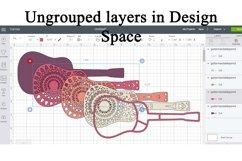 3D Layered Guitar Mandala SVG - 5 Layers Product Image 2