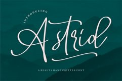 Astrid - A Beauty Handwritten Font Product Image 1