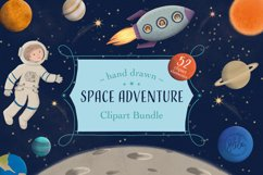 Space Adventure Clipart Bundle - Outer Space Fun Scenes Product Image 1