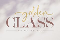 Golden Class Font Duo Product Image 1