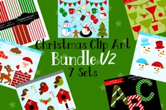 Christmas Clipart Graphics Bundle V2, Illustrations, Clipart Product Image 1