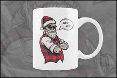 Buffalo Plaid Santa for Sublimation, Christmas Design Product Image 5