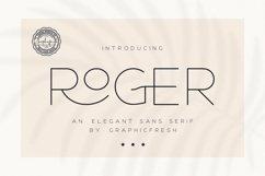 Roger - An Elegant Sans Serif Product Image 1