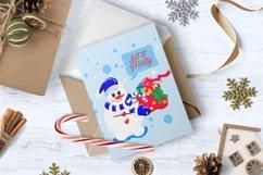Christmas snowmen SVG Product Image 4