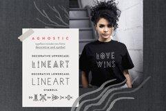 Agnostic - Thin Line Geometric Font Product Image 2