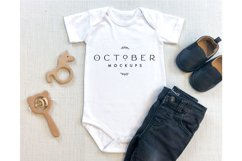 Mockup Bundle Baby Boy Bodysuit White in JPG Product Image 4