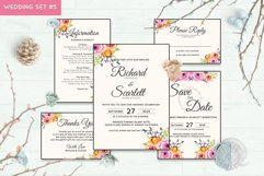 Wedding Invitation Set #5 Watercolor Floral Flower Style Product Image 1