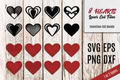 8 Hearts Laser Cut Files   Valentines SVG Product Image 1